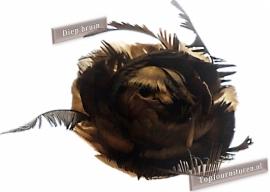 Veren corsage diep bruin