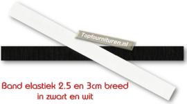 Stevig bandelastiek 2.5 en 3 cm breed zwart en wit