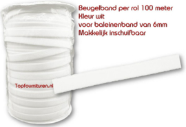 Beugelband 6mm wit
