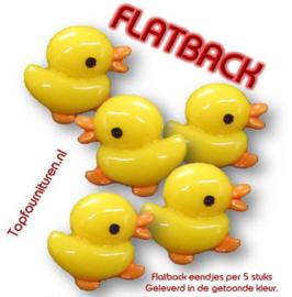 Flatback eendjes per 5 stuks