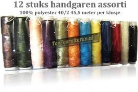 12 klosjes handgaren in diverse kleuren