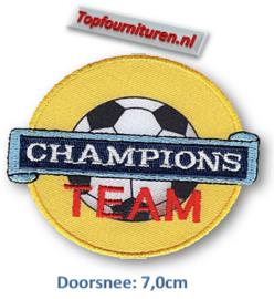 Applicatie Champions team opstrijkbaar