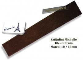 Satijnlint bruin 10 en 15mm