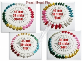 Pearl Headpin kleur 45mm diverse