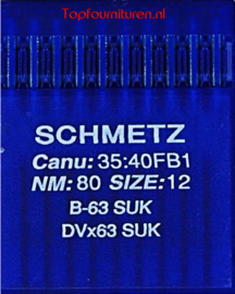 Schmetz CANU:35:40FB1 NM:80 SIZE:12 B-63 SUK DVx63SUK