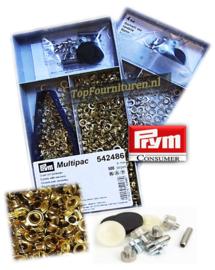 Voordeeldoos 500 stuks nestels Ø 4mm zilver of goud art. 542485/486 Prym