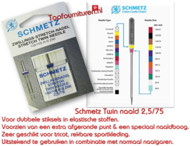 Schmetz tweelingnaald 2.5/75