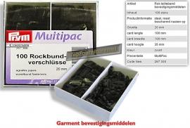 Rok sluitingen 20mm 100 stuks in voordeeldoos Prym 267300
