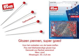 Glaskopspelden superfijn prym 029700