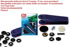 Sportknopen donker gebronsd 15 mm Prym 390200