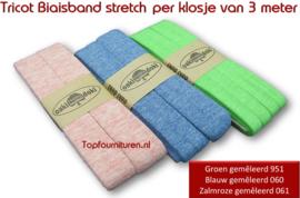 Tricot biaisband Jersey diverse kleuren