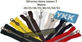 Deelbare ritsen zilver 20/25/30/35/40/45/50/55CM YKK