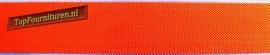 Reflecterend elastiek 2,5cm oranje