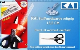 KAI stoffenschaartje 5 1/2 inch  135mm soft grip N5135