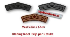 Opstrijkbare labels United States
