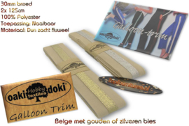Sierband Galloon-Trim hoofdkleur beige