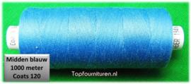 Middenblauw naaimachinegaren 1000 meter