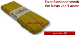 Tricot Biaisband Jersey Mosterdgeel