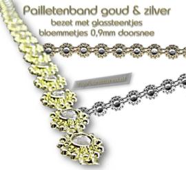 Pailletenband rondjes Goud