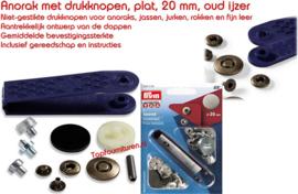 Anorak drukknopen 20mm oudijzer mat Prym 390376