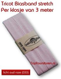 Tricot Biaisband Jersey licht oud roze