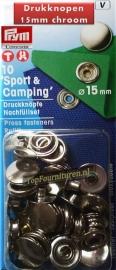 Sportknopen Zilver Ø 15 mm Prym 390202 navulling