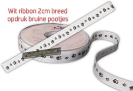 Ribbon 2cm breed bedrukt met pootjes