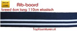 Rib-Boord donkerblauw-witte strepen (1590)