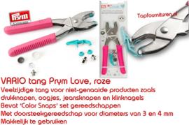 Vario drukknopentang Prym Love roze
