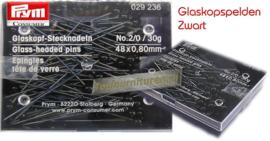 Glaskopspelden zwart 150 gram Prym 029236