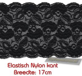 Elastisch nylon kant 17cm breed