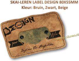 Skai-leren label (63977-01)