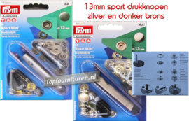 Sport mini drukknopen 13mm prym 390501 / 390502