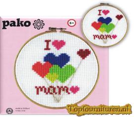 I love mama borduurpakket