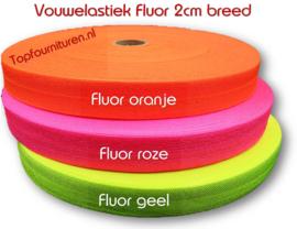 Vouwelastiek fluor 2cm breed