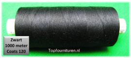 Zwart naaimachinegaren 1000 meter