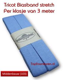 Tricot Biaisband Jersey middenblauw
