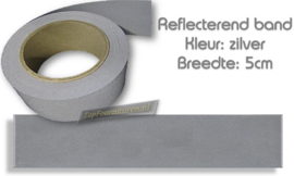 Reflecterend band zilver 2.0cm / 3.0cm & 5cm breed