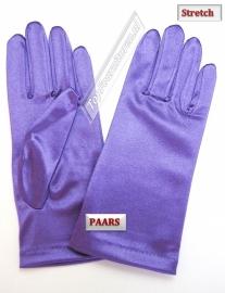 Handschoenen stretch satijn. Kleur middenpaars