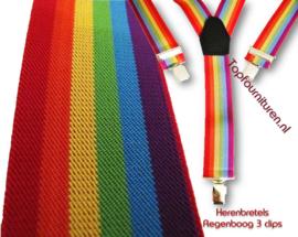 Regenboog bretels 3 clip