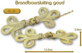 Brandenburgers-sluiting goud / zilver 13x5cm