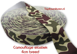 Camouflage elastiek 4cm breed