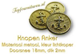 Knopen met Anker prijs per 2 stuks