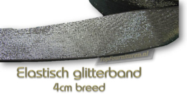 Glitterband elastiek 4cm breed
