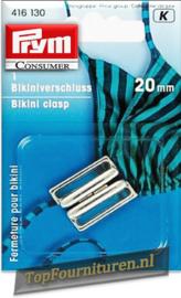 Bikinisluiting metaal 20mm