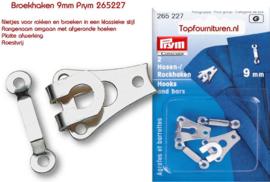 Prym 265227 broek & rokhaken 9mm zilverkleur