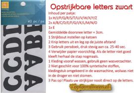 Opstrijkbare letters