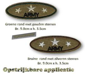 Army gouden of zilveren sterren