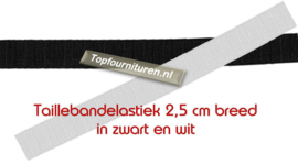 Taillebandelastiek 2,5cm breed.