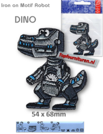 Iron on Motif Robot - DINO